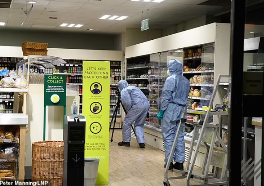 A man has reportedly been arrested on suspicion of contaminating food with a syringe at three supermarkets in West London