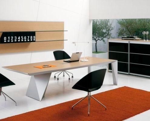 Bureau de direction contemporain en bois