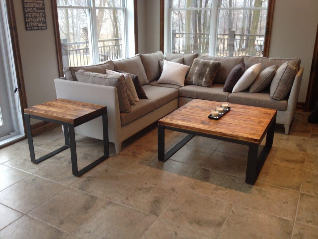 Table De Salon Bois Mtal Table Basse Table Caf Bois