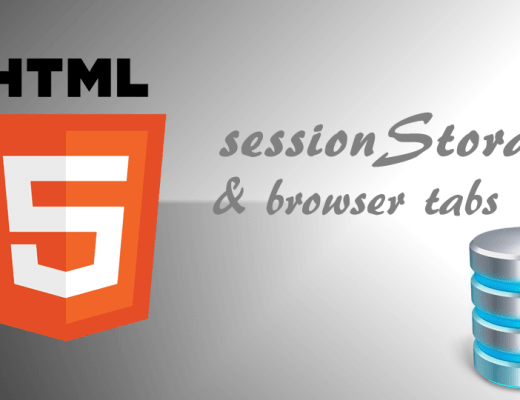 html session storage and tabs