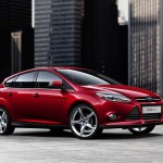 Ford Focus 2013 red colour