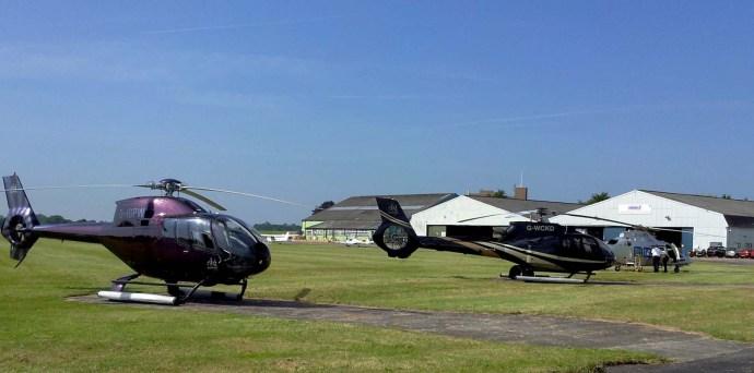 EBG helicopters EC130 G-WCKD EC120 G-IGPW A109 SP G-CHFD