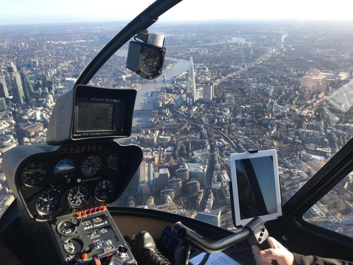 London heli lanes with the Shard in view