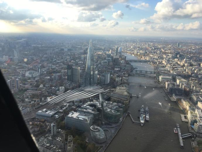 A great view of the Shard and London Bridge station platforms