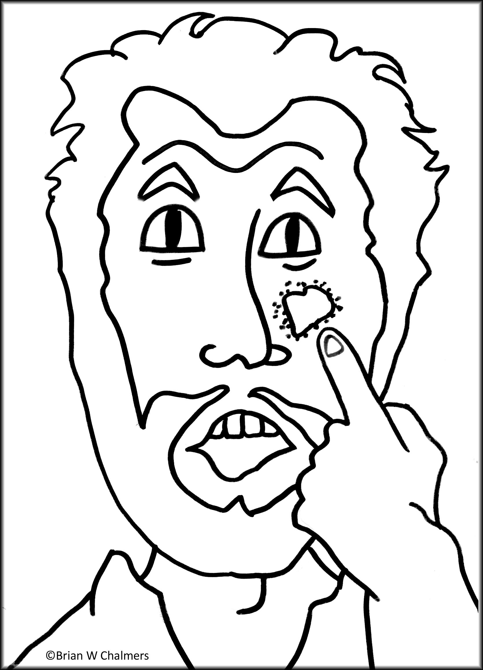 Naaman The Leper Coloring Page