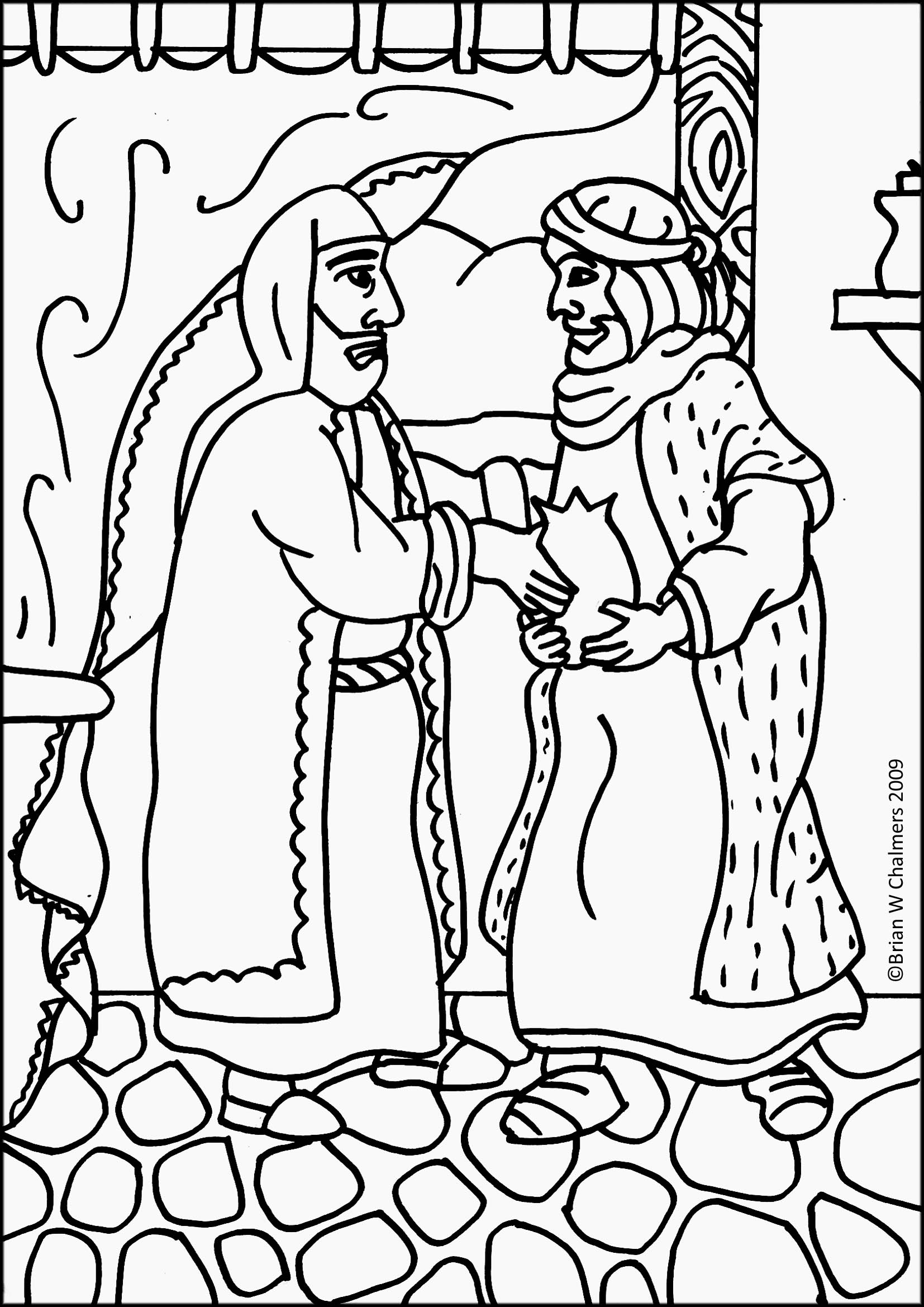 Coloring Pages Parable Of Two Sons