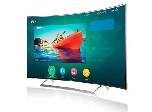 BGH presentó su TV Curved 4K