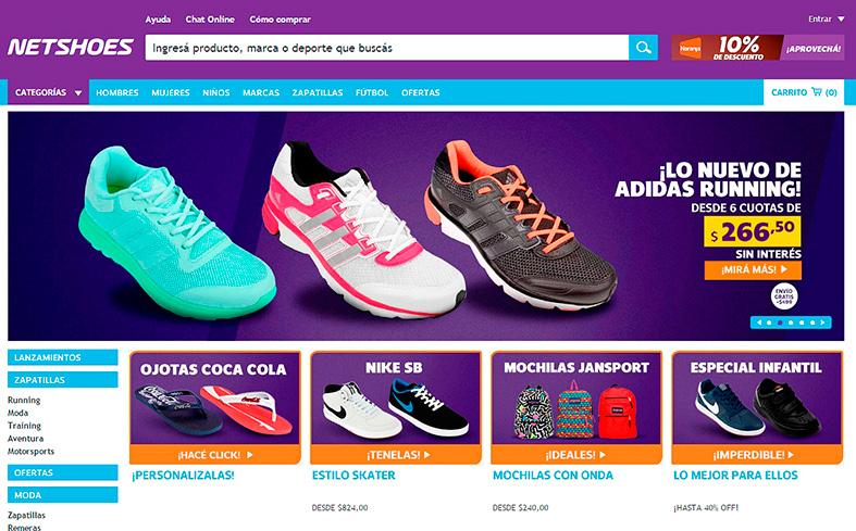 b0450d9fa Netshoes Argentina implementó una plataforma de compra online ...
