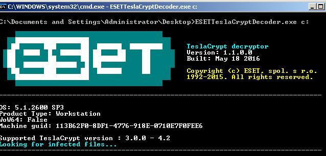 ESET lanzó una herramienta que permite acceder a archivos secuestrados