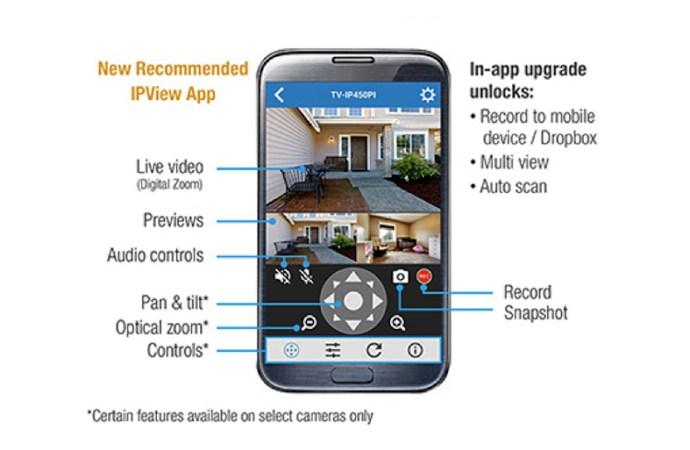 TRENDnet actualizó su app para móviles destinada a cámaras IP y NVR