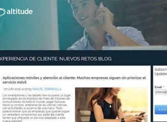 Altitude Software lanzó un blog sobre los retos de la experiencia de cliente