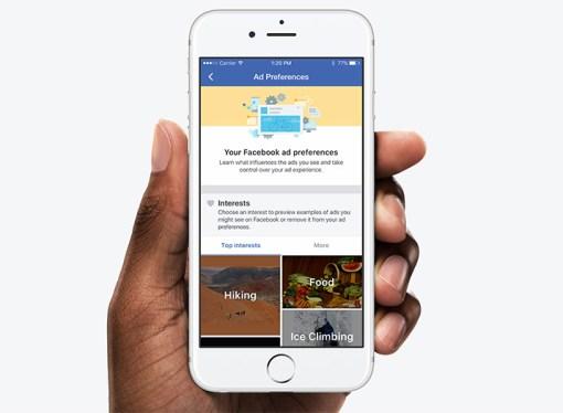 Una forma nueva de controlar los anuncios que ves en Facebook