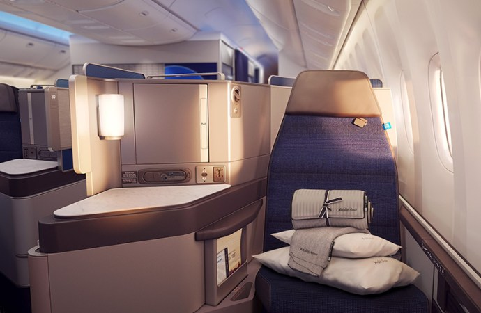 United Airlines presenta su nueva experiencia Polaris International Business Class