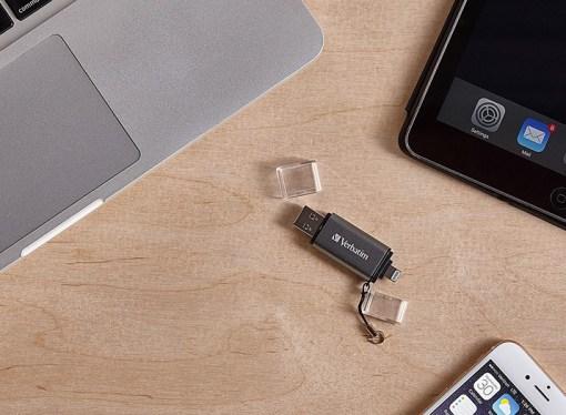 Verbatim presentó su pen drive dual USB 3.0 / Lightning