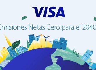 Visa promete alcanzar emisiones netas cero para 2040