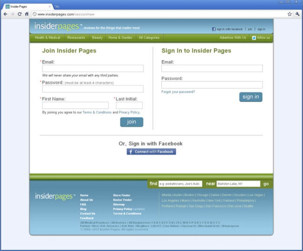 insiderpages.com - join to add your insiderpages.com business listing