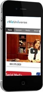 eBizUniverse mobile website