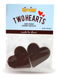 Product Info: Divvies Chocolate Hearts