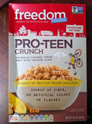 Freedom Foods: Pro-teen crunch, allergy friendly cereal