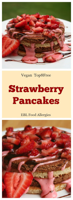 Strawberry Pancake Recipe, Top8Free GlutenFree DF