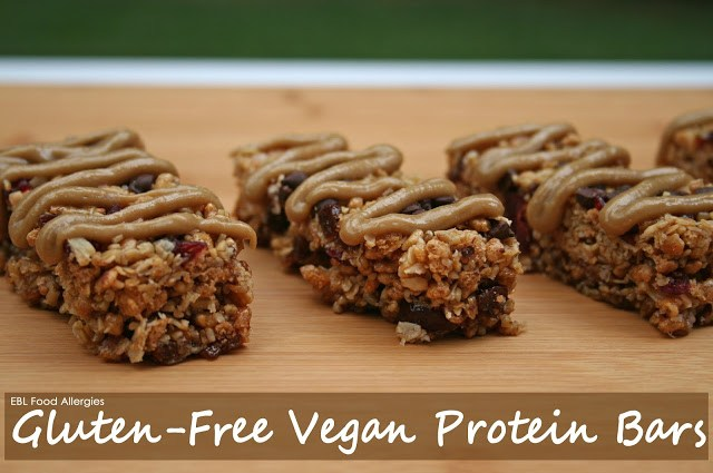I want to make these for my kids! Gluten Free Vegan Protein Bars, top8free