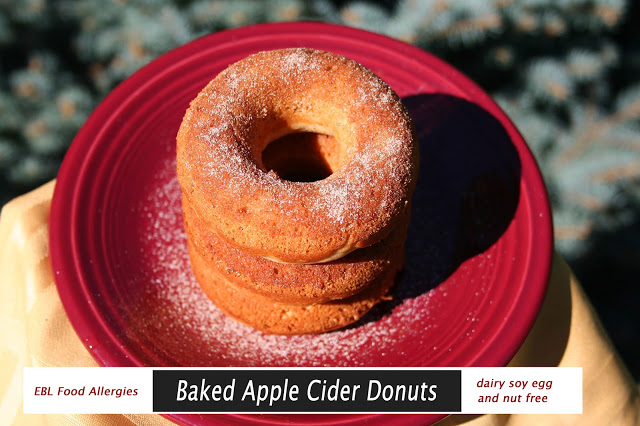 Allergy Friendly Baked Apple Cider Donuts perfect for fall weather