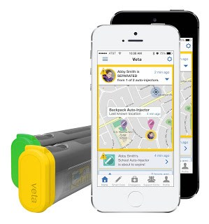 Veta™ is a new EpiPen® smart case that syncs to you and your child's mobile device alerting you when it is forgotten, opened, or close to expiration, which helps to instill good habits and ease of mind.