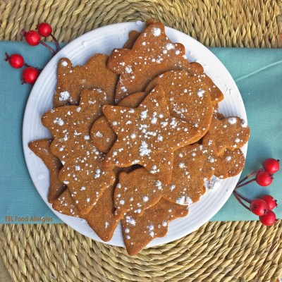 Allergy-Friendly Molasses Cut-Out Cookies, #dairyfree #soyfree #eggfree #nutfree