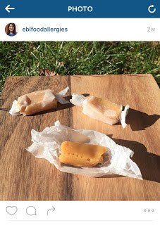 EBL Food Allergies sharing Cocomels on Instagram