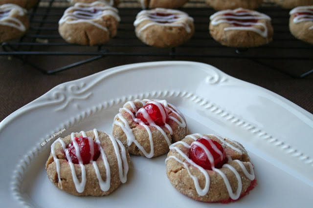 SunButter Cherry Cookies are perfect for the holidays! Vegan & Gluten Free