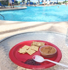 Allergy Friendly Lunch by the pool