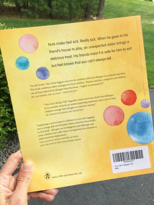 You Can't Always Tell is a great book for teachers to read to their classroom to open the dialogue about food allergies in the classroom.