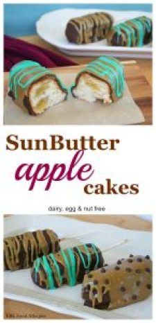 Who doesn't love SunButter and apples? This dairy, egg & nut free dessert not only tastes amazing, but it also raises food allergy awareness with its teal icing!