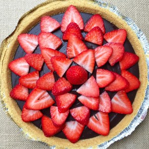 Dairy Free Chocolate Pudding Pie, EF NF and can be GF