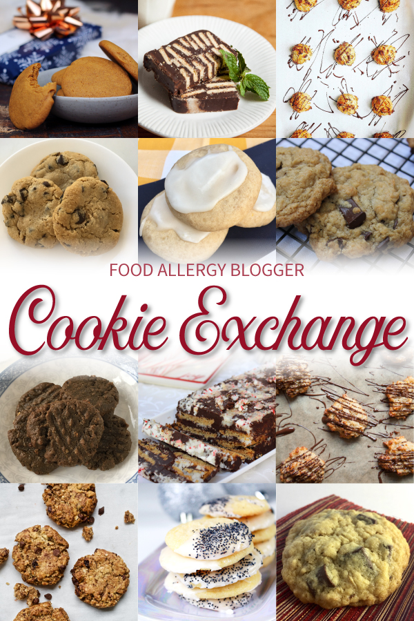 Food Allergy Blogger Cookie Exchange includes some DF, EF, NF, WF, SF recipes!