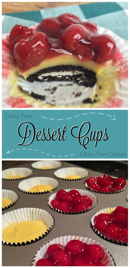 Dessert Cups are free of dairy, egg, nuts and have a gluten free option.