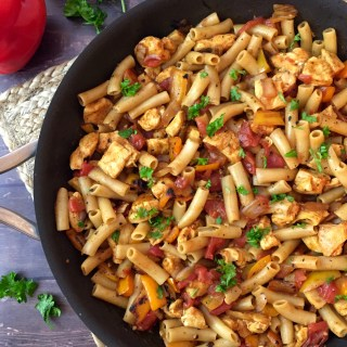 Gluten and Dairy Free Taco Chicken Pasta
