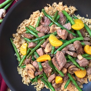 Mandarin BBQ Beef and Rice, Gluten and Dairy Free, Top8Free