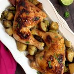 One Pan Chicken Potatoes and Veggie Dinner GF Top8Free