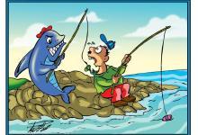 صورة كاريكاتير مع عبد الرحمن بكر