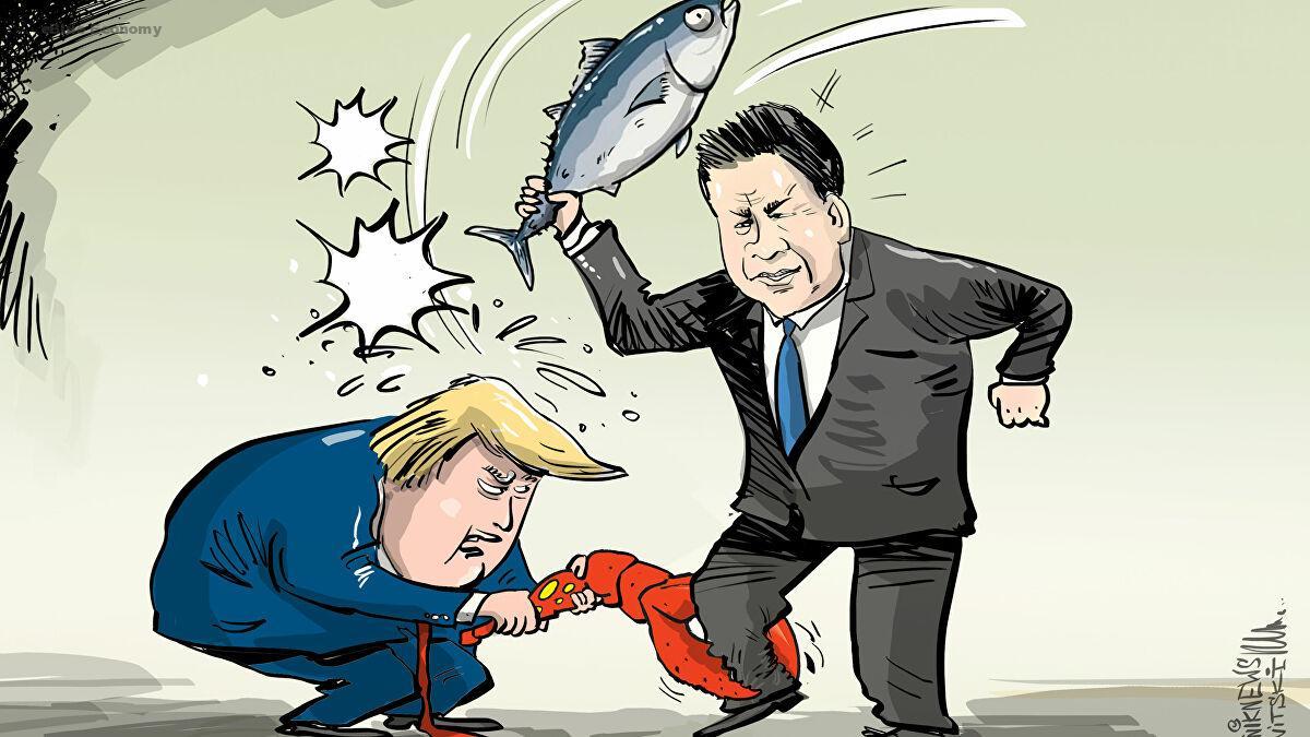 eBlue_economy_ ترامب يهدد بفرض رسوم على المأكولات البحرية الصينية