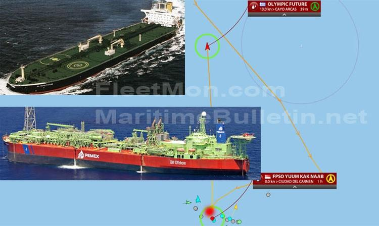 eBlue_economy_ FPSO suffered _1.5 meter long gash_ no reports of damages to the oil tanker