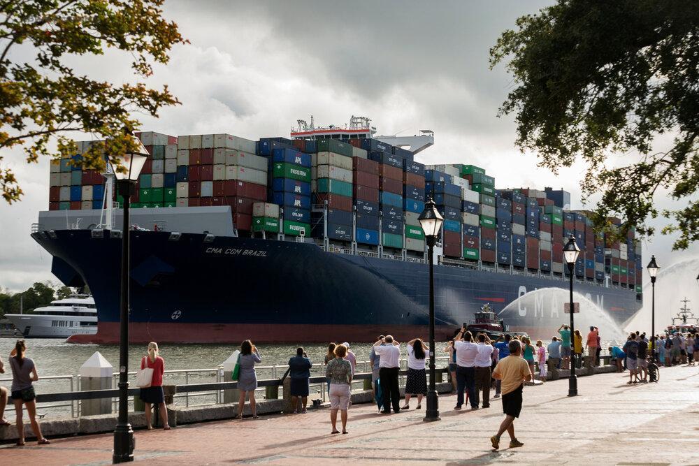 eblue_economy_Savannah serves largest vessel
