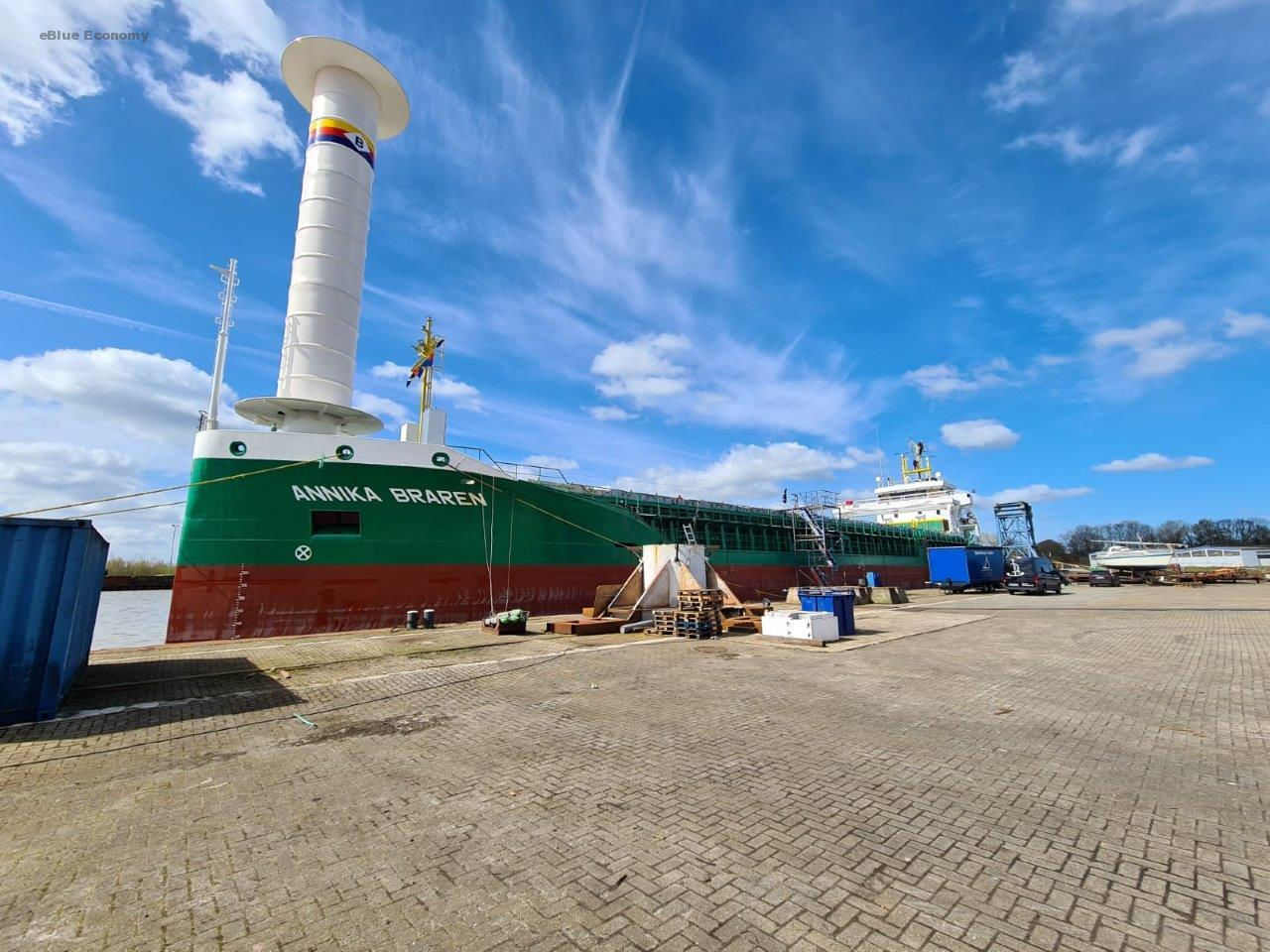 eBlue_economy_North Sea Region Adds a New Wind-Assist Rotor Installed Vessel to the Fleet