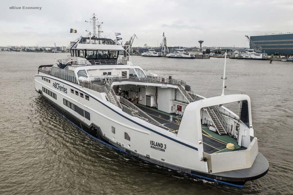 eBlue_economy_BC Ferries' third Island Class ferry departs shipyard bound for B.C.