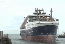 eBlue_economy_بوتين يشارك فى مراسم انزال سفينة صيد الاسماك_سيزوف_العملاقة