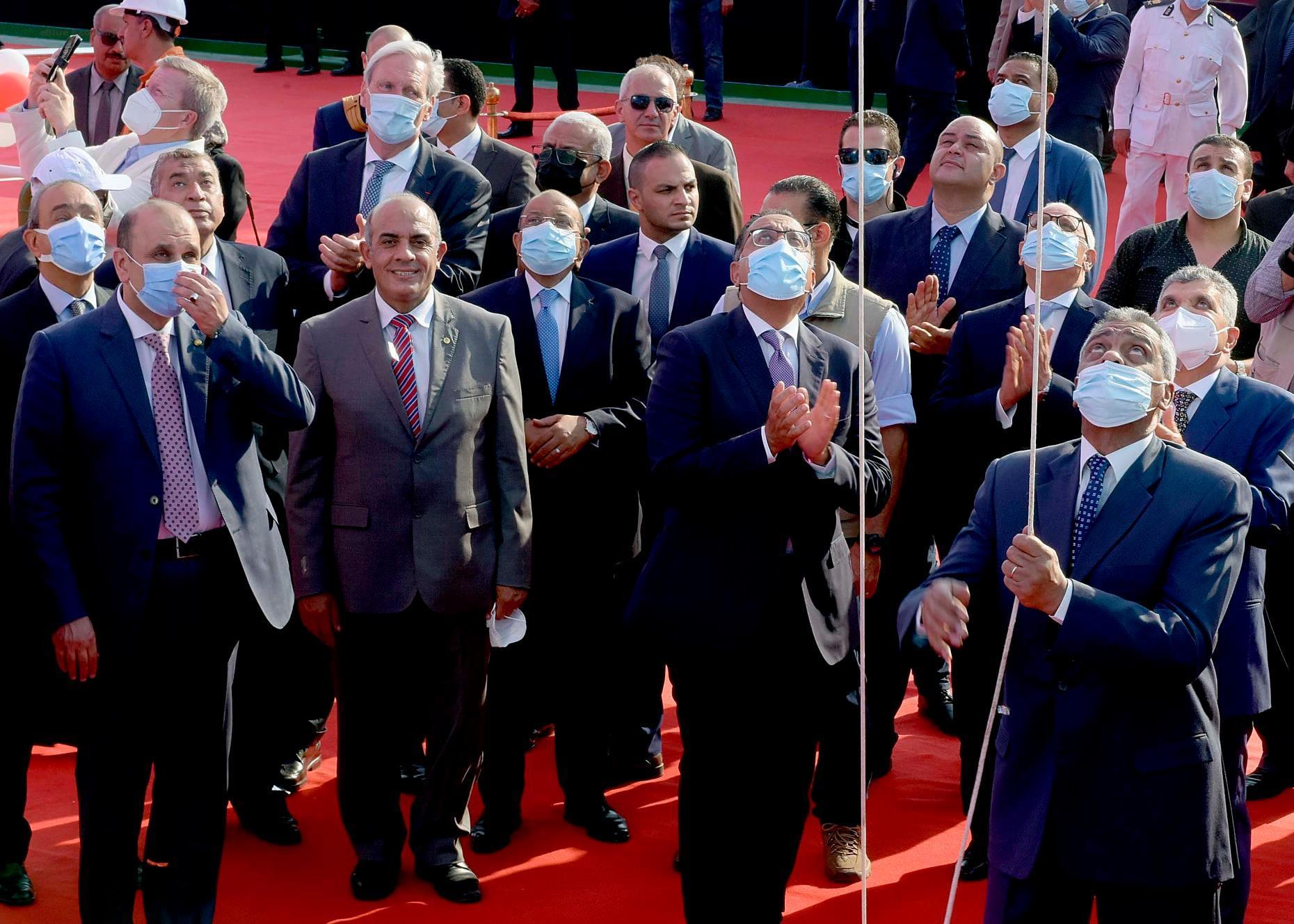 eBlue_economy_احتفالية رفع العلم على الكراكة حسين طنطاوى