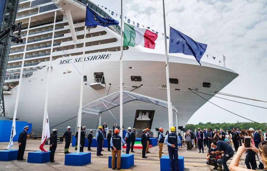 eBlue_economy_ MSC seashore welcome first guest for her inaugural voyage in the Mediterranean