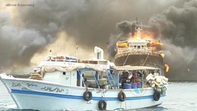 eBlue_economy_حريق فى 7 مراكب صيدبميناء برنيس