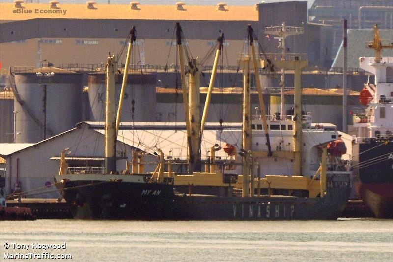 eBlue_economy_Cargo ships collided at Vung Tau anchorage, one sank